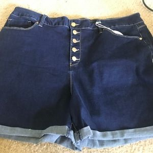 Pants - Plus size high waisted jean shorts